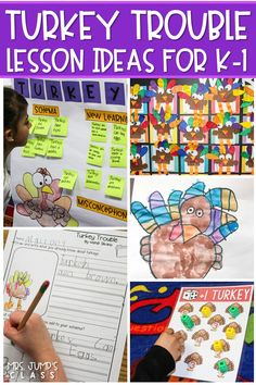Turkey Trouble reading comprehension lesson plans. Responding to literature activities, vocabulary studies, center ideas, and fun crafts! #turkeytrouble #readinglessonplans #engagingreaders