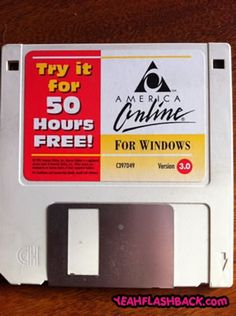 AOL diskettes that came in the mail.