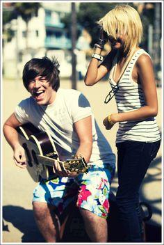 guitar, fun, beach