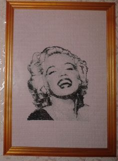 Marilyn Monroe embroidered - Marilyn Monroe photo embroidery - Gallery - Machine embroidery forum