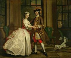 """""""Pamela and Mr B in the Summerhouse"""" by Joseph Highmore (1692-1780)."""