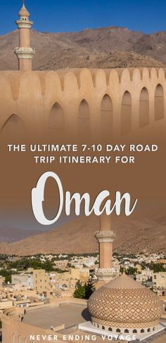 If you're thinking of travel to Oman then here's the perfect road trip itinerary guide! From where to stay what to see and more read more here. Oman Travel, Asia Travel, Eastern Travel, Beautiful Places To Visit, Cool Places To Visit, Amazing Places, Dubai, Hotels, Road Trip Hacks