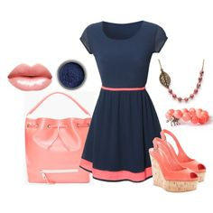 Salmon and Navy - Pretty colors for summer!