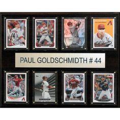 C Collectables MLB 12x15 Paul Goldschmidt Arizona Diamondbacks 8-Card Plaque
