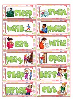 Action Verb Flashcards