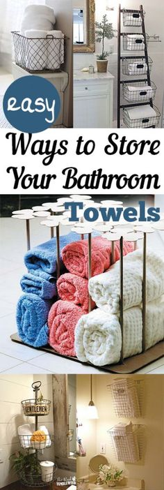 Easy Ways To Store Your Bathroom Towels