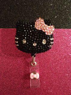 Bling Hello Kitty Badge Holder. $20.00, via Etsy.