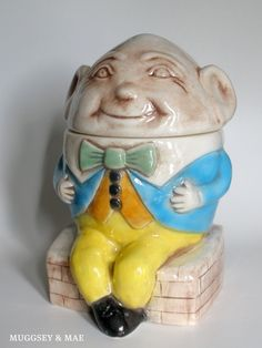 Maddux of California Vintage Humpty Dumpty Cookie Jar; weird-looking, but would be another nice addition!