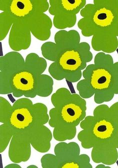 Fall in love with Marimekko - fabric, wallpaper, bedding and cushions - as House & Garden shows you where to shop for Marimekko's Scandinavian design in the UK Motifs Textiles, Textile Patterns, Flower Patterns, Print Patterns, Marimekko Wallpaper, Marimekko Fabric, Pattern Wallpaper, Design Textile, Fabric Design