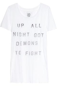 Zoe Karssen - Up All Night cotton and modal-blend T-shirt. $95