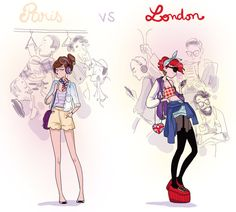 Diglee - how to be a londoner - phosphore, juillet 2012 Character Illustration, Illustration Art, Bd Comics, Cute Drawings, Art Sketches, Cute Art, Art Inspo, Fashion Art, Art Reference