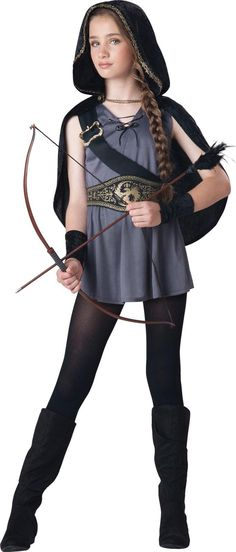 Hooded Huntress Costume For Tweens from Buycostumes.com
