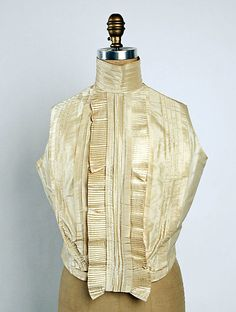 Sleeveless silk shirtwaist, American, 1898-99.
