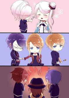 Diabolik lovers:the first three brothers love their mother's but the triplets burnt theirs alive. Jeez! Can vampires get anymore brutal and sadistic!?