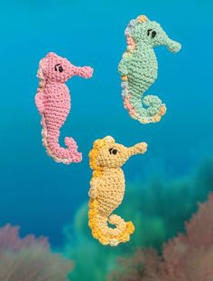 Bathtime Buddies – 20 Crocheted Animals from the Sea Seahorse