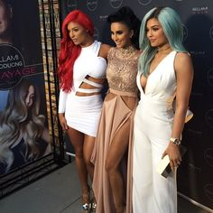 """ Eva Marie on Instagram: """"Awesome to share a night with other women entrepreneurs  representing our @bellamihair extention lines tonight @bellamibeautybar launch party! ❤️ @lillyghalichi @kyliejenner  #AllRedEverything #Testarossa #WeAreKillinThatCamera"""""""