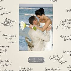 A new spin on the old-fashioned guest book, the Personalized Wedding Wishes Signature Frame puts their good wishes where you can see them. Guests add their sign Best Man Wedding, Wedding Tips, Wedding Photos, Wedding Planning, Dream Wedding, Wedding Day, Wedding Anniversary, Gift Wedding, Perfect Wedding