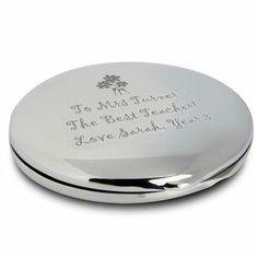 Engraved Teachers Round Compact Mirror