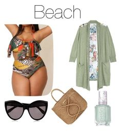 """Beach#3"" by vhyko on Polyvore featuring Melissa McCarthy Seven7, ViX, Alexander McQueen and Essie"