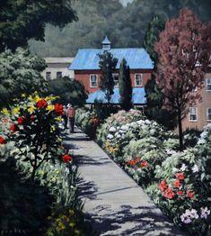 Bridge of Flowers, original oil on canvas by Lewis Bryden   R. Michelson Galleries