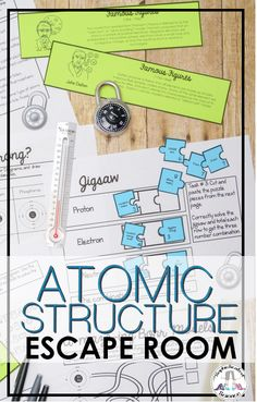 This atomic structure activity includes nine atomic structure escape room challenges, which can be implemented in a variety of ways. Science Resources, Teaching Resources, Teaching Ideas, High School Classroom, Science Classroom, Bohr Model, Escape Room Challenge, Atomic Theory, Small Group Activities