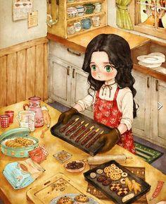 Bakhtawerbokhari girlish in 2019 anime art, whimsical art, i Girl Cartoon, Cartoon Art, Illustration Girl, Digital Illustration, Forest Girl, Anime Art Girl, Anime Girls, Illustrations, Whimsical Art