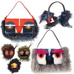 """The 18 Looks Editors Will Be Wearing This Fashion Week: Fendi bugs and monsters: These cute little furry """"Buggie"""" keychains were on pretty much everyone's wish list this past holiday season. And now the time has come to be publicly photographed with them. And while they never quite reached the same level of fashion fetish, the accompanying monster bags have just as much character."""