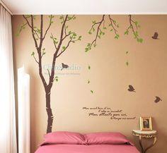 Ufingodecor Muro Farfalle Vite Creativo Fiore Foto Adesivi