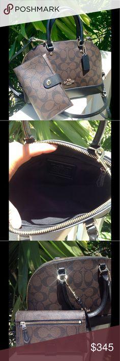 AUTHENTIC COACH MINI DOME SET GORGEOUS EUC SET......TRADE VALUE $425 Coach Bags Mini Bags