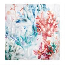 """20"""" Coral Lacquered Gel Wall Art"""