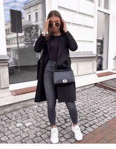 Danielle Blazer Dress Black - Outfit - The Fashion Blazer Fashion, Winter Fashion Outfits, Look Fashion, Spring Outfits, Autumn Fashion, Womens Fashion, Fashion Ideas, Dress Fashion, Fashion Black