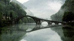 Devil's Bridge in Borgo a Mozzanoa, Italy