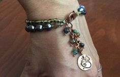 Ganesh Bracelet Double Strand Sacred Artwear by SacredArtwear