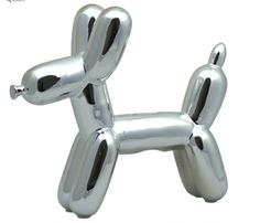 Silver Dog Balloon M