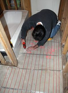 about heated basement floor on pinterest stained concrete floors