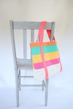 Free sewing patterns and tutorials for a market tote, child apron, bunting flags, patchwork tote, and mini quilt.
