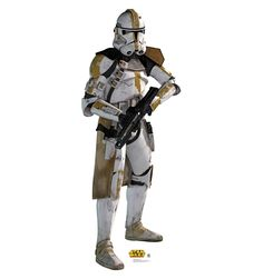 Yellow Clone Trooper Cardboard Standup