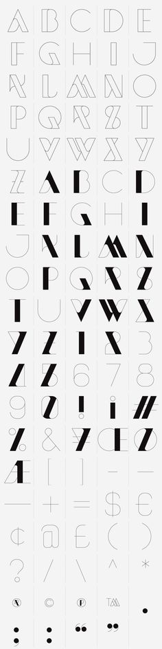 NewModern — Typeface by SAWDUST , via Behance