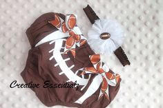 Football Bloomers, Baby Smash Cake Outfit, Headband, Baby Girl, Diaper Covers, Baby Gift, Photo Prop on Etsy, $22.00 CAD