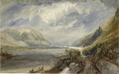 The Athenaeum - The Junction of the Lahn and the Rhine (Joseph Mallord William Turner - )