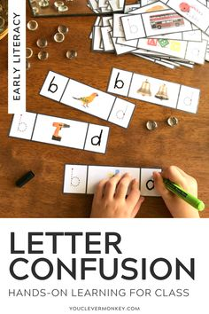 Still have students reversing their b's and d's, their p's and q's? This Letter Reversal Pack is just what you need to help fix letter confusion or letter reversals. Use these simple photo cards in your literacy centers to practice differentiating between the letters b/d and the letter p/q by using real life photos beginning with the same sounds as prompts. This pack includes some helpful handwriting sheets for letter recognition and sorting as well as practice writing correctly… Early Literacy, Literacy Centers, Handwriting Sheets, Word Work Activities, Tracing Letters, Alphabet Coloring Pages, Spanish Language Learning, Letter Recognition, Phonemic Awareness
