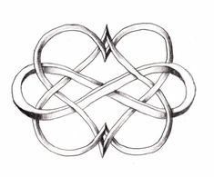 I love this Double Heart Infinity tattoo! I would love this on the back of my neck as my next tattoo or even as a couple tattoo. Beautiful and unique! <3 by Becknboys #hearttattoosonneck