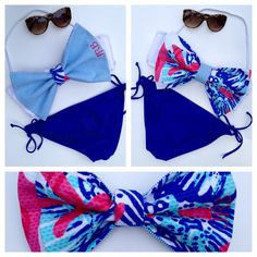 The Bikini Bows are reversible and can be worn 4 different ways!