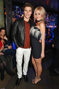 Cute twosome:Oliver Cheshire (left) and girlfriend Pixie Lott shared a date night at the ...