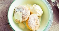 Peach halves with Anzac Crumble