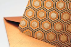 Copper Hexagon Mini Cards, Set of 4, Blank Cards, Enclosure Card, Gift Card, Favor Card, Journaling Card, Love Note, Advice Card. Gift Tag by whoiamdesign on Etsy