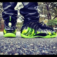 Paranorman Foamposite ...bad ASS!...I'd play in these though- not wear them to the park with leather pants like this guy.
