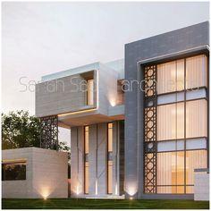 Islamic Architecture, Modern Architecture House, Facade Architecture, Modern Exterior, Interior Exterior, Exterior Design, Classic House Design, Modern Villa Design, Dream House Exterior