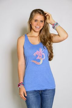 Om yoga tank top. Available at www.faywithlove.com