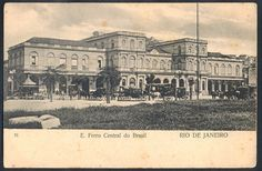 Rio de Janeiro - Temática Ferrovias - Trem - Estrada de Ferro Central do Brasil.